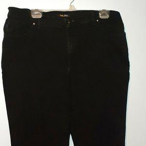 High Waist Vintage Lee Black Plus Jean's Sz 16